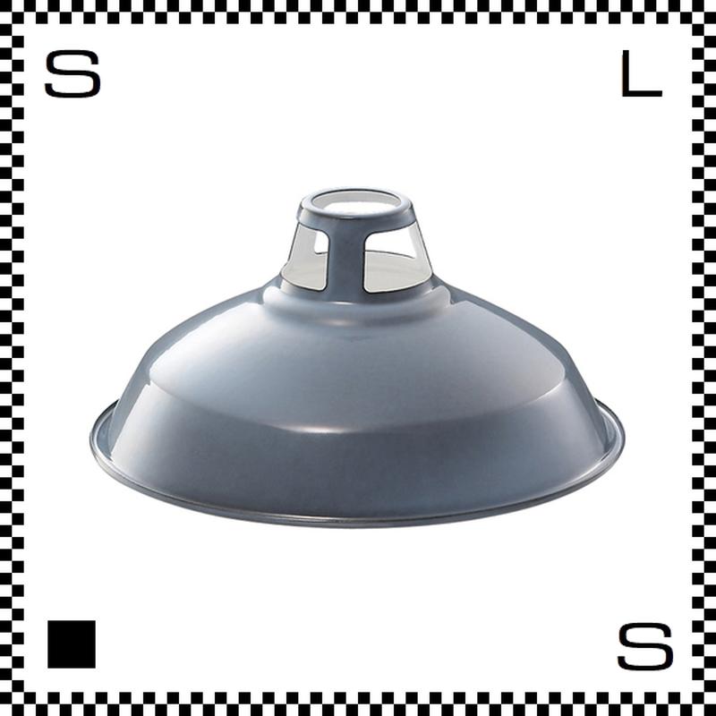 アートワークスタジオ Enamel Shade エナメルシェード Lサイズ ビンテージグレー シェードのみ Φ400/H190mm ホーロー仕上げ ビンテージライン風 AW-0035-VG