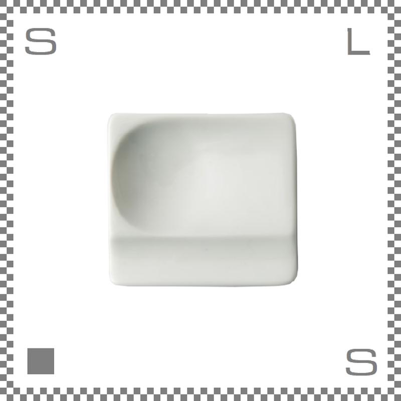 aiyu アイユー 重宝皿 ホワイト W8/D7.2/H1.3cm スクエアプレート 万能皿 箸置きスペースあり 波佐見焼 日本製