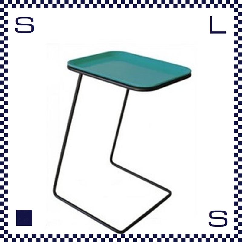 CAMBRO キャンブロ サイドテーブル スクエア フレーム:ブラック/シルバー ディーグリーン:天板 W360/H510/H280mm アメリカ製