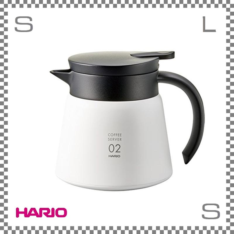 HARIO ハリオ V60 保温ステンレスサーバー 600 ホワイト 550ml W161/D127/H142mm コーヒーサーバー バキュームジャグ 保温ポット vhs-60wh
