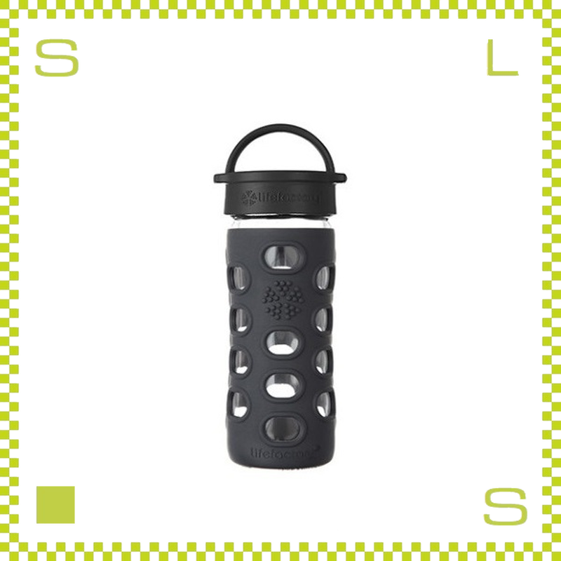 LIFEFACTORY ライフファクトリー グラスボトル クラシックキャップ 350 オニキスブラック 350ml 携帯ボトル ガラスボトル