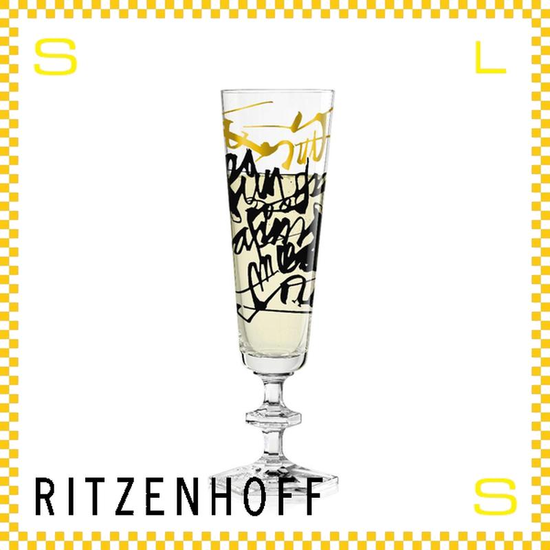 RITZENHOFF リッツェンホフ シャンパングラス 100ml タイポグラフィー NERODISE Φ60/H210mm フルートグラス 筆記体 ギフト  ritz-3520005