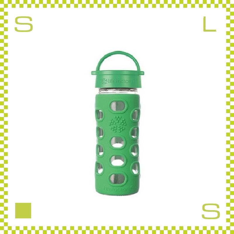 LIFEFACTORY ライフファクトリー グラスボトル クラシックキャップ 350 グラスグリーン 350ml 携帯ボトル ガラスボトル