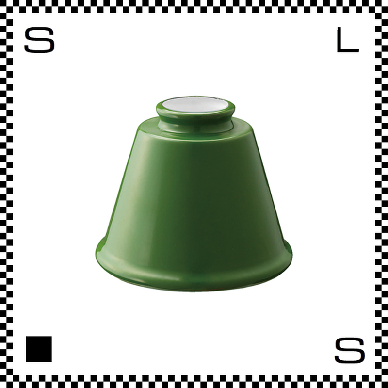 アートワークスタジオ Trap トラップエナメルシェード グリーン シェードのみ Φ142/H105mm ベルモチーフ ホーロー仕上げ ミニエナメルシリーズ AW-0053-GN (※)