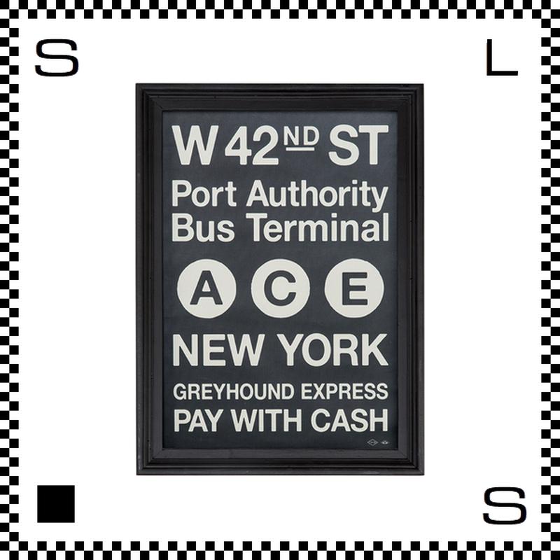 アートワークスタジオ アートフレーム A1サイズ ニューヨーク ブラックフレーム W680/D48/H930mm ポスター付フレーム アートポスター TR-4199-NY