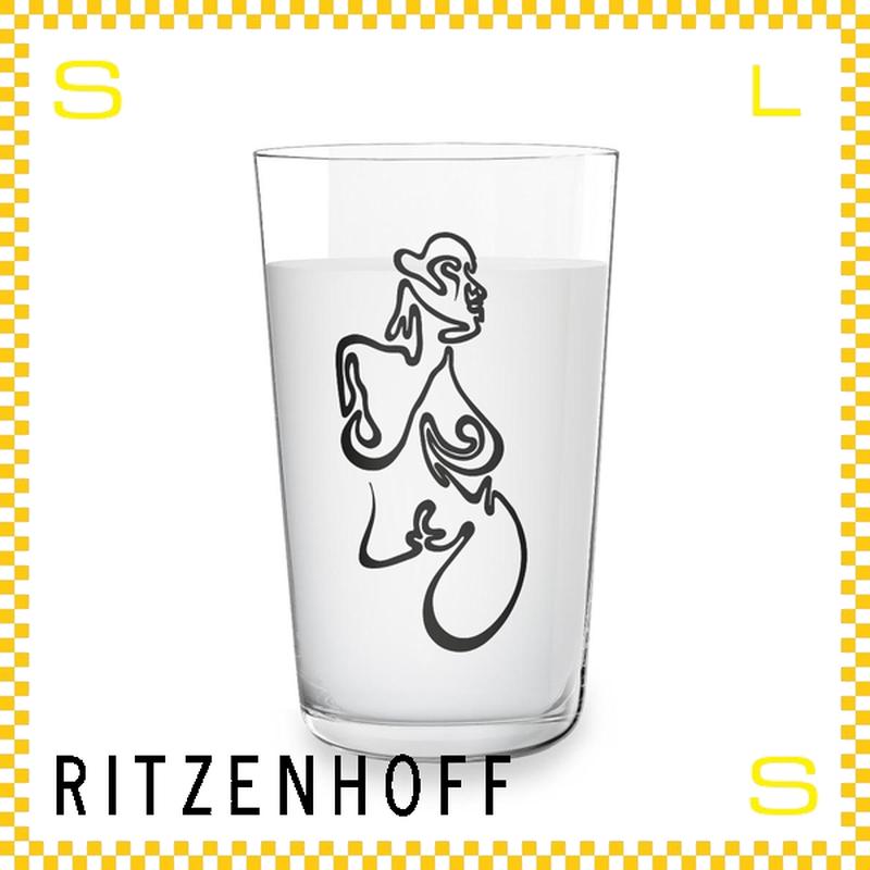 RITZENHOFF リッツェンホフ ミルクグラス 250ml アブストラクト マーク・アンドリュー・ウェバー Φ77/H128mm タンブラー 抽象画 ギフト  ritz-3500012