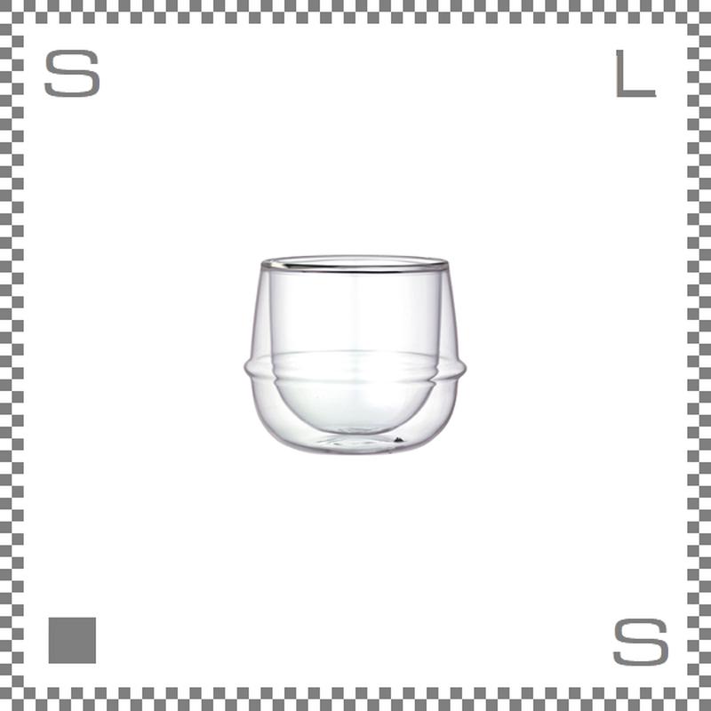 KINTO キントー KRONOS ダブルウォール ワイングラス 250ml 耐熱ガラス製
