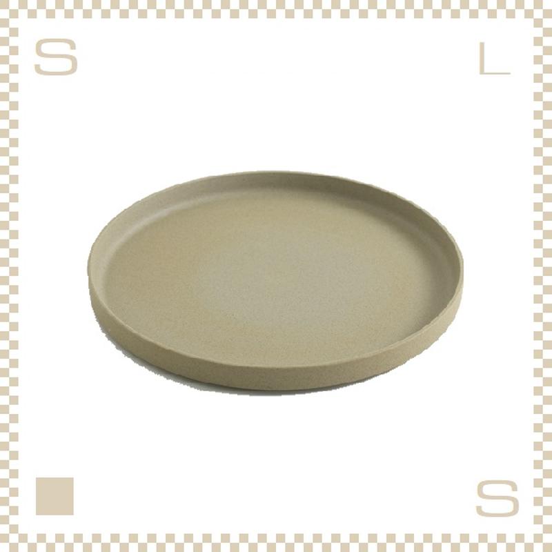 ハサミポーセリン プレート 直径255mm ナチュラル Φ255/H21mm スタッキング可 HP005 Hasami Porcelain
