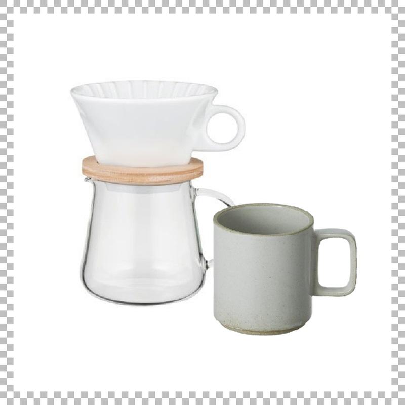 SNOWTOP COFFEE series スノウトップ コーヒーポット&ドリッパーセット 400ml & HASAMI PORCELAIN マグカップ Mサイズ クリア(グロス)