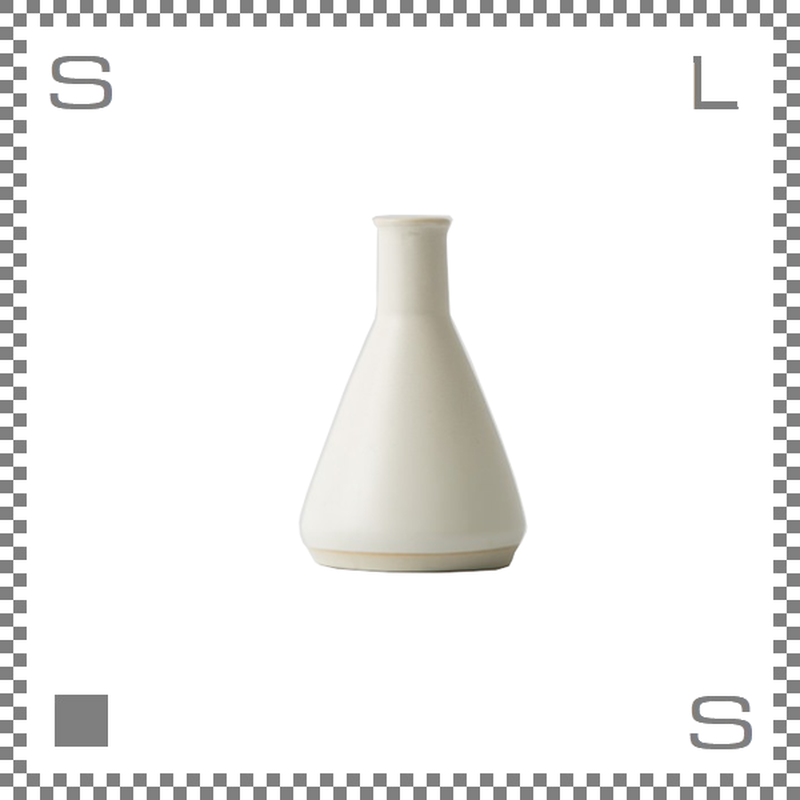 aiyu アイユー BIKASUCO ビカスコ Mサイズ ホワイト W6/D6/H9cm 100cc フラワーベース 花瓶 波佐見焼 日本製