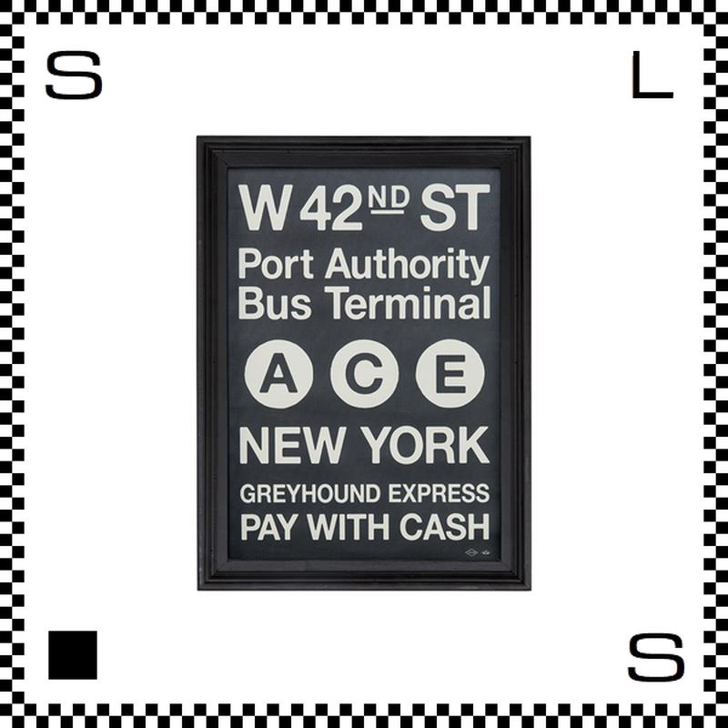 アートワークスタジオ アートフレーム A4サイズ ニューヨーク ブラックフレーム W255/D20/H340mm ポスター付フレーム アートポスター TR-4196-NY