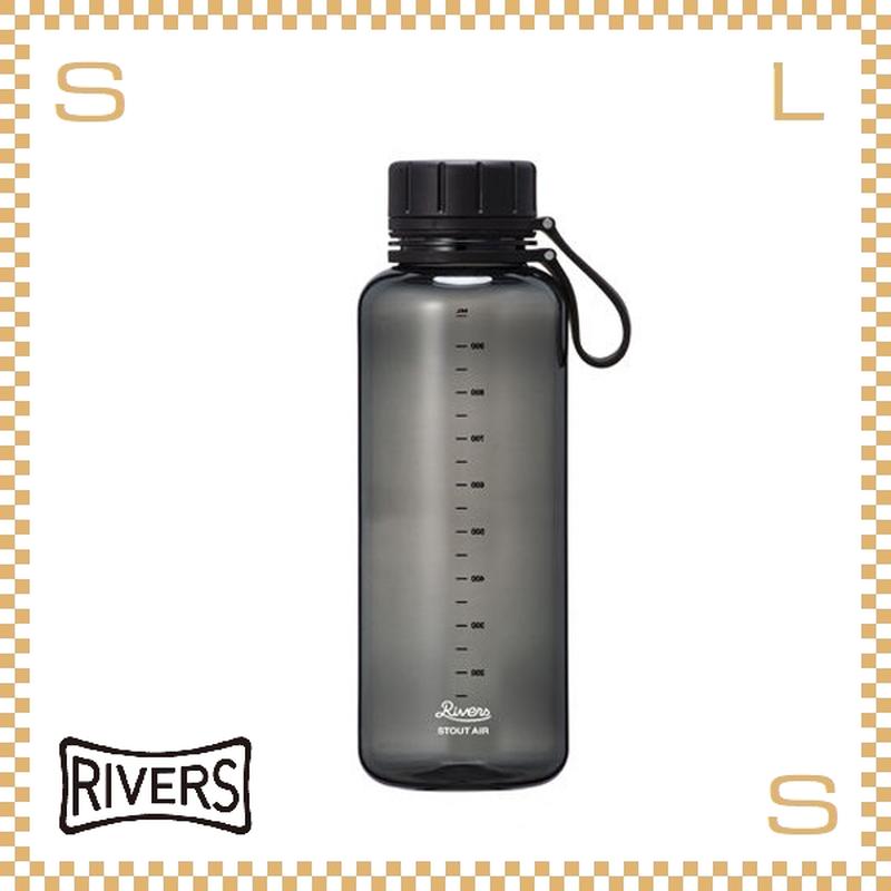 RIVERS リバーズ スタウトエア 1000 ブラック 1000ml W117/D85/H250mm ウォーターボトル スプラッシュガード付 トライタン使用