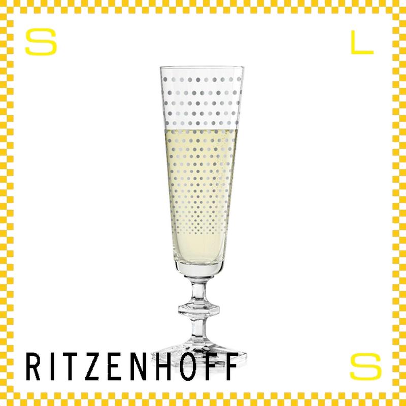 RITZENHOFF リッツェンホフ シャンパングラス 100ml ドット ノエ・デュショフール・ローランス Φ60/H210mm フルートグラス ポルカドット ギフト ritz-3520002
