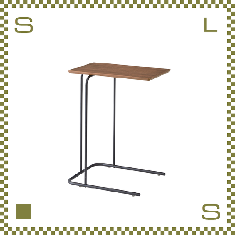 サイドテーブル ブラウン W35/D47/H60cm ミニテーブル シンプルナチュラル 北欧デザイン azu-end222br