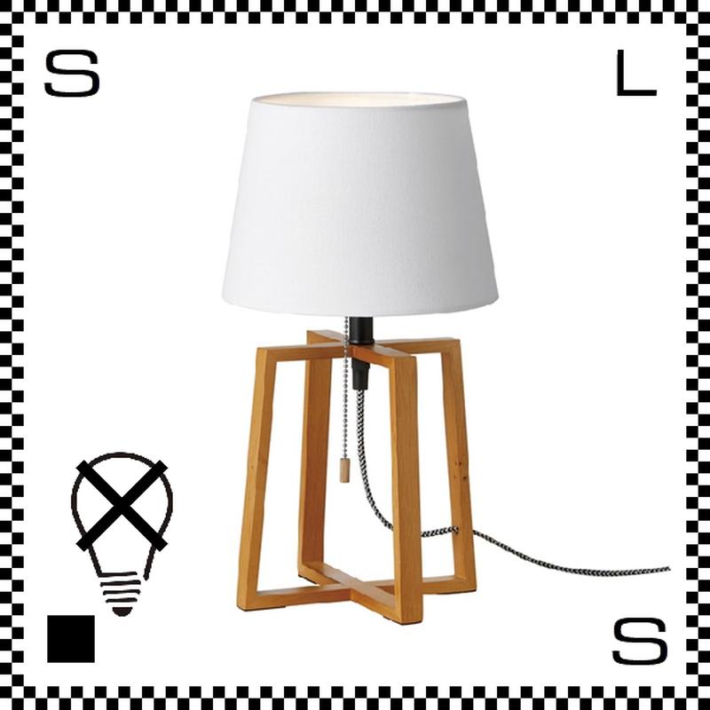 アートワークスタジオ Espresso エスプレッソテーブルランプ ホワイト 電球なし Φ220/W205/H370mm スタンドランプ ファブリックシェード ウッドフレーム  AW-0506Z-WH