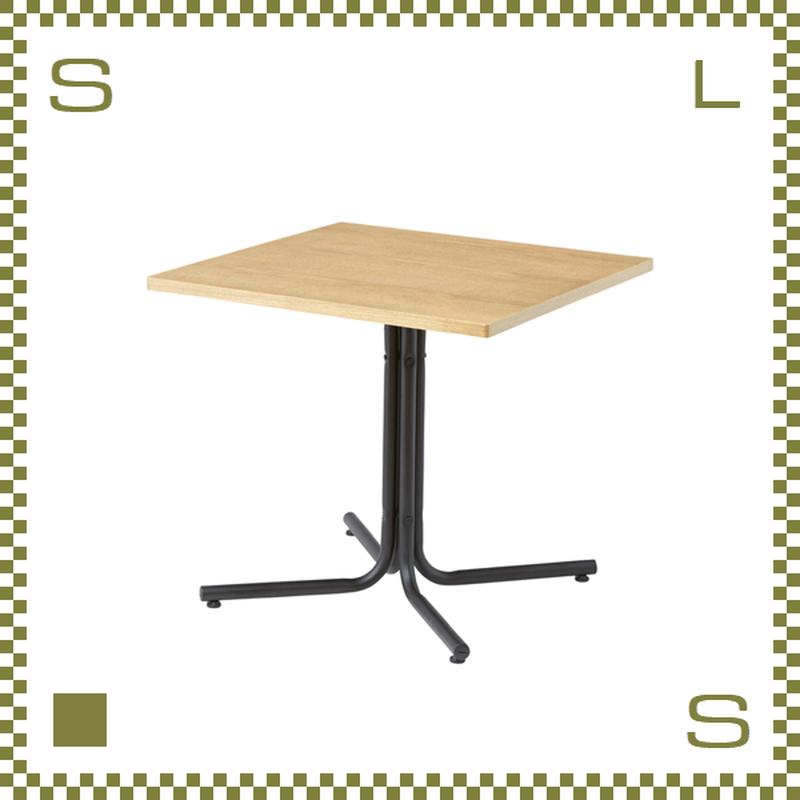 カフェテーブル スクエア ナチュラル W75/D75/H67cm 1本脚テーブル シンプルナチュラル 北欧デザイン azu-end223tna