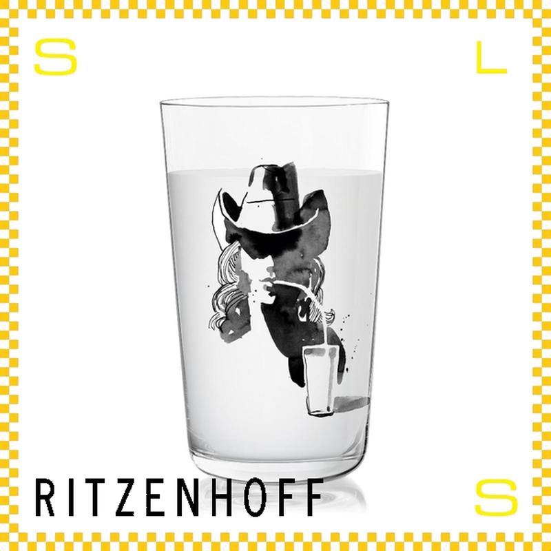 RITZENHOFF リッツェンホフ ミルクグラス 250ml カウガール ピーター・ピヒラー Φ77/H128mm タンブラー カウボーイハット ギフト  ritz-3500009