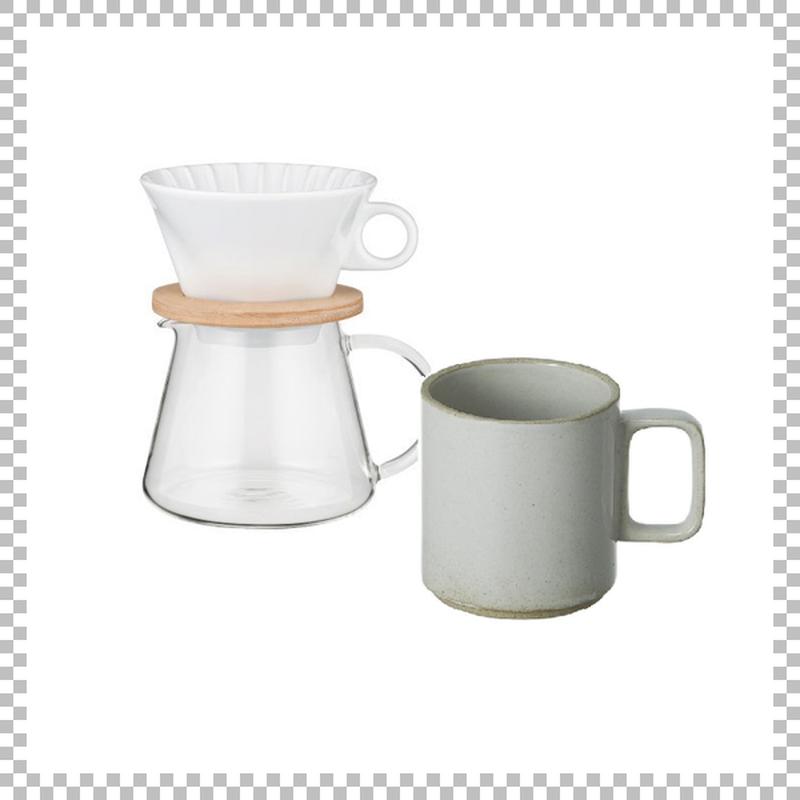 SNOWTOP COFFEE series スノウトップ コーヒーポット&ドリッパーセット 600ml & HASAMI PORCELAIN マグカップ Mサイズ クリア(グロス)