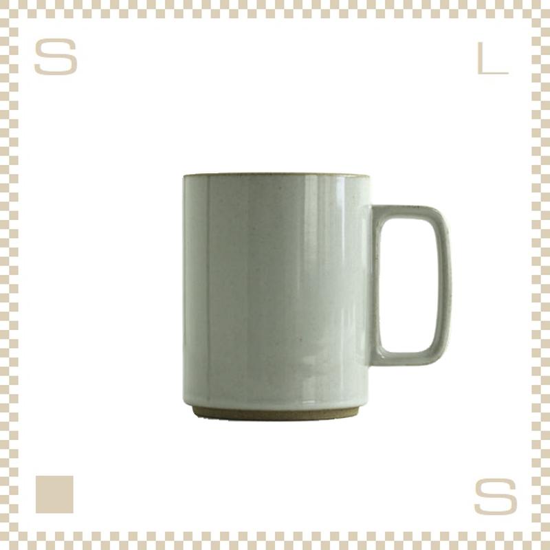 ハサミポーセリン マグカップ Lサイズ クリア グロス Φ85/H106mm 450ml スタッキング可 HPM021 Hasami Porcelain