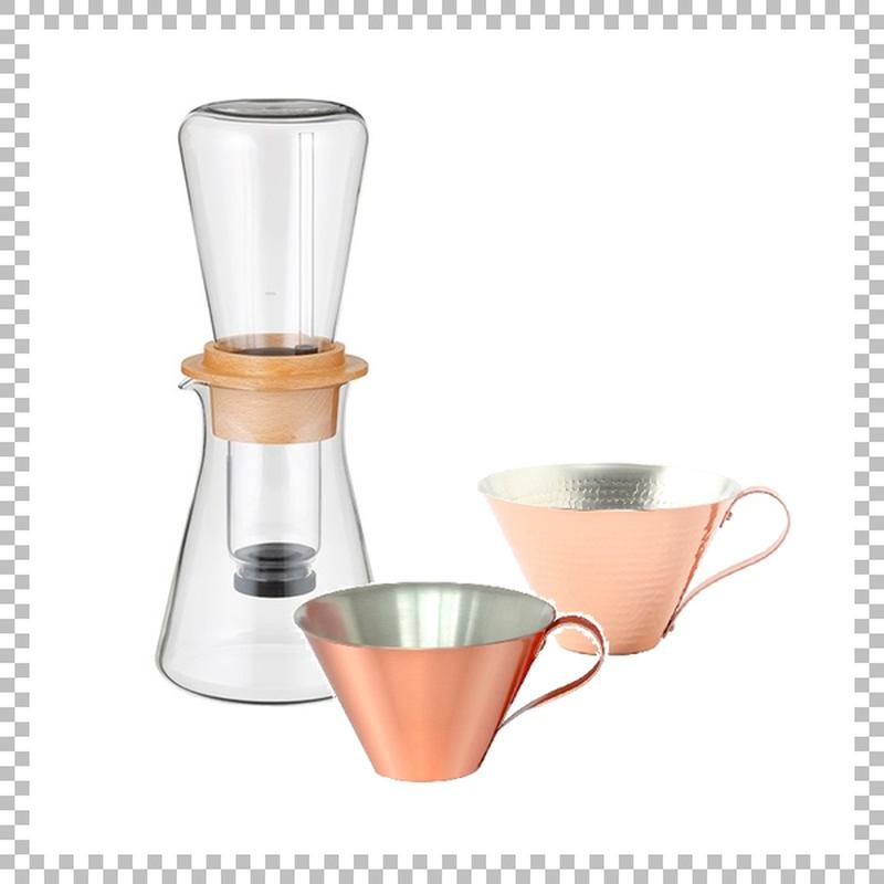 SNOWTOP COFFEE series スノウトップ ウォータードリップコーヒーサーバー & R&W 銅製アイスコーヒーカップ(マット/槌目)2個
