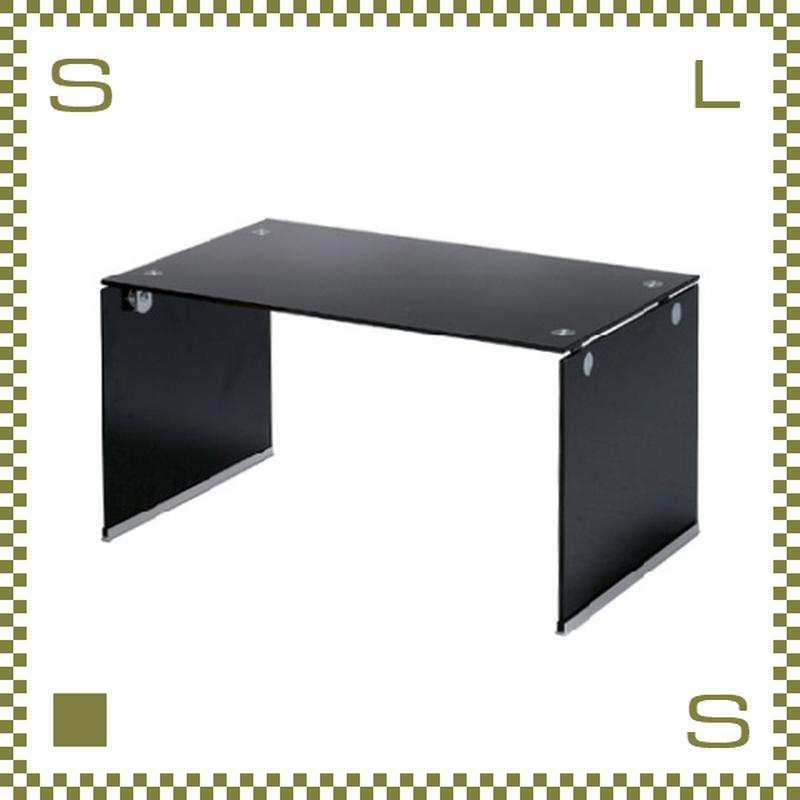 ガラステーブル ブラック W76/D45/H39cm オールガラステーブル ローテーブル センターテーブル azu-pt28bk
