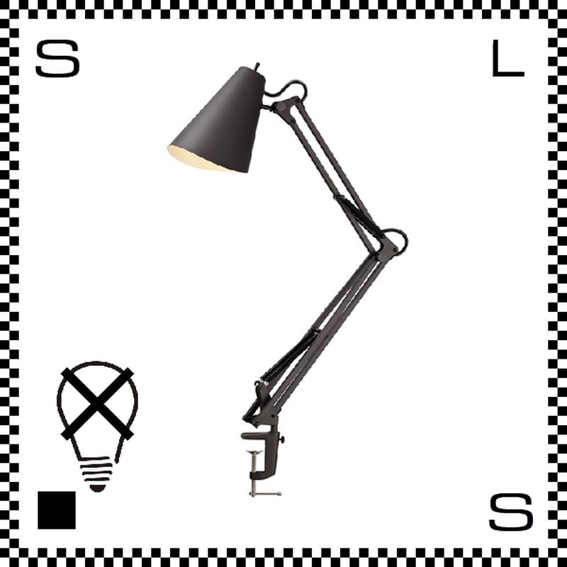 アートワークスタジオ Snail スネイルデスクアームライト ブラック 電球なし アーム:780mm クランプ型 デスクランプ 鋳物 AW-0369Z-BK