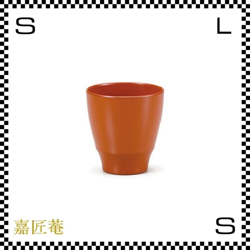 十色のぐい呑み カップ 橙 オレンジ Φ6.7/H6.9cm 漆カップ 漆塗装 ちょこ フリーカップ 小鉢 日本製