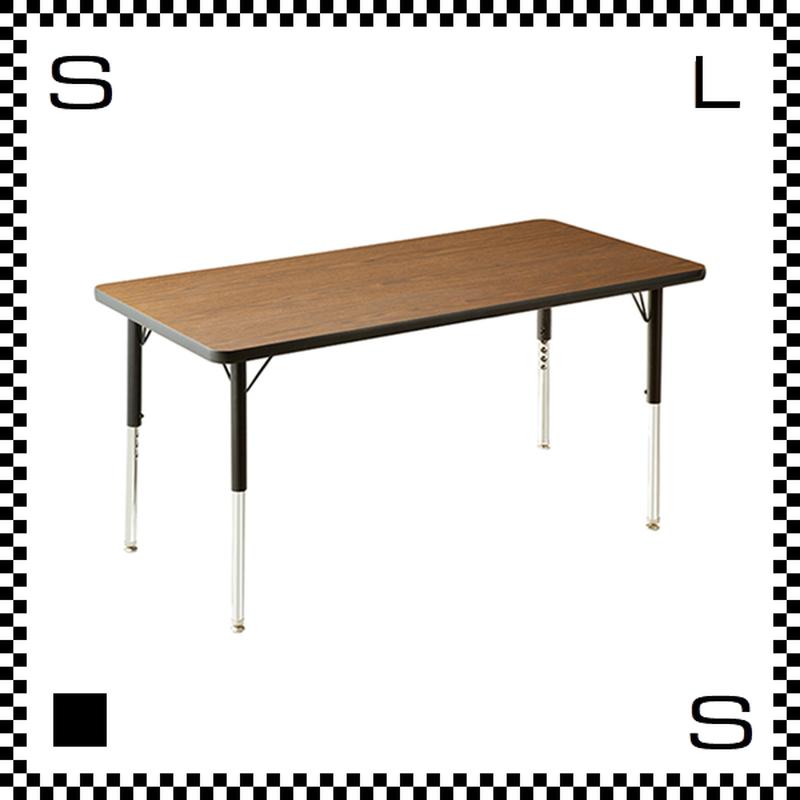 ヴァルコ テーブル Sサイズ ウォルナット 1220×608mm VIRCO社 高さ調節可能 ユニバーサルデザイン 店舗・業務用 TR-4227-WN