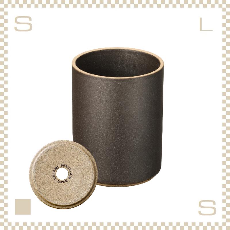 ハサミポーセリン プランター ブラック Φ85/H106mm スタッキング可 底穴付き HPB044 Hasami Porcelain