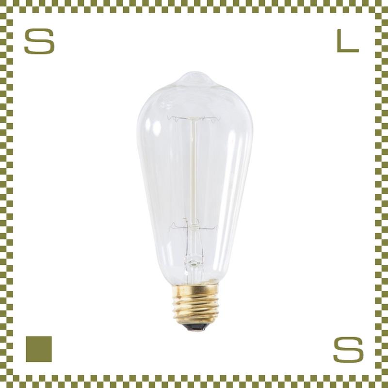 エジソンバルブ Lサイズ W6.4/D6.4/H14cm レトロ電球 azu-lhb91
