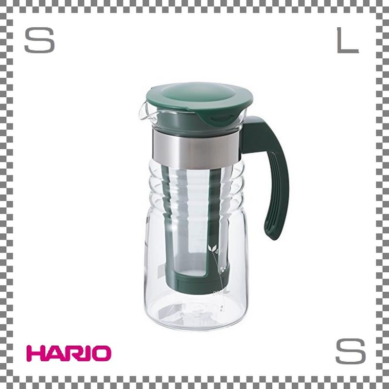 HARIO ハリオ かご網付き水出し茶ポット ダークグリーン 700ml W125/D93/H203mm 茶こし付き フィルター付き ウォーターボトル 日本製 hcc-7dg