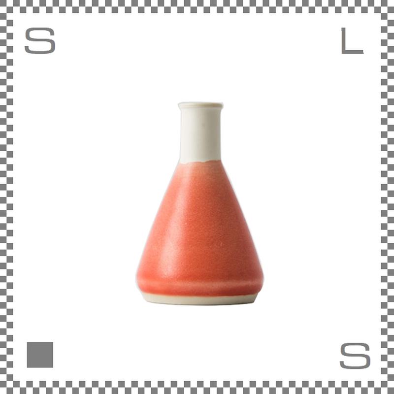 aiyu アイユー BIKASUCO ビカスコ Lサイズ レッド W7/D7/H11cm 130cc フラワーベース 花瓶 波佐見焼 日本製