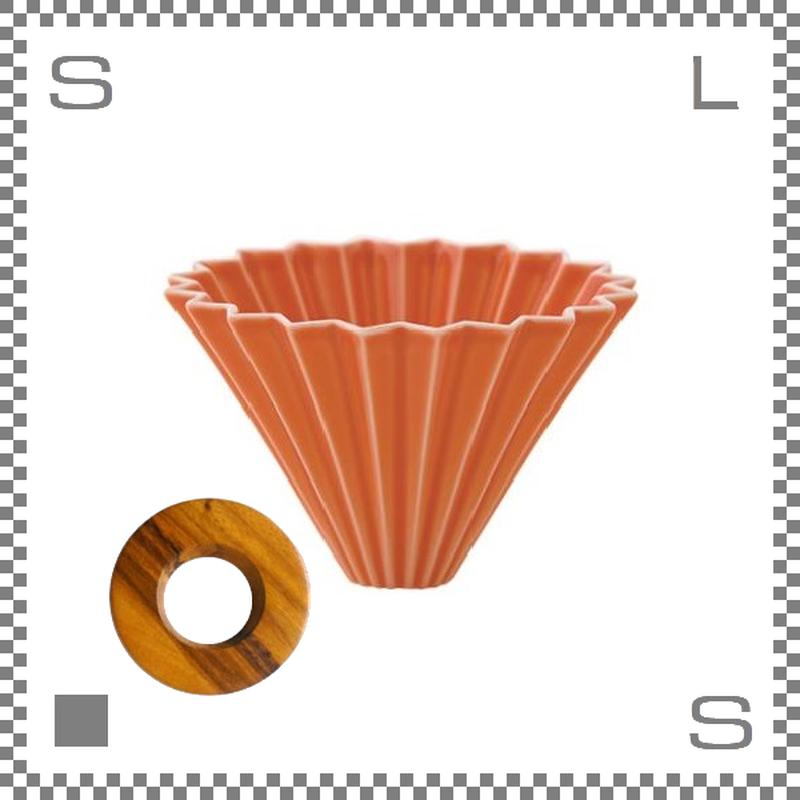 ORIGAMI オリガミ ドリッパーセット ドリッパー Mサイズ オレンジ 2~4杯用 &専用ドリッパーホルダー