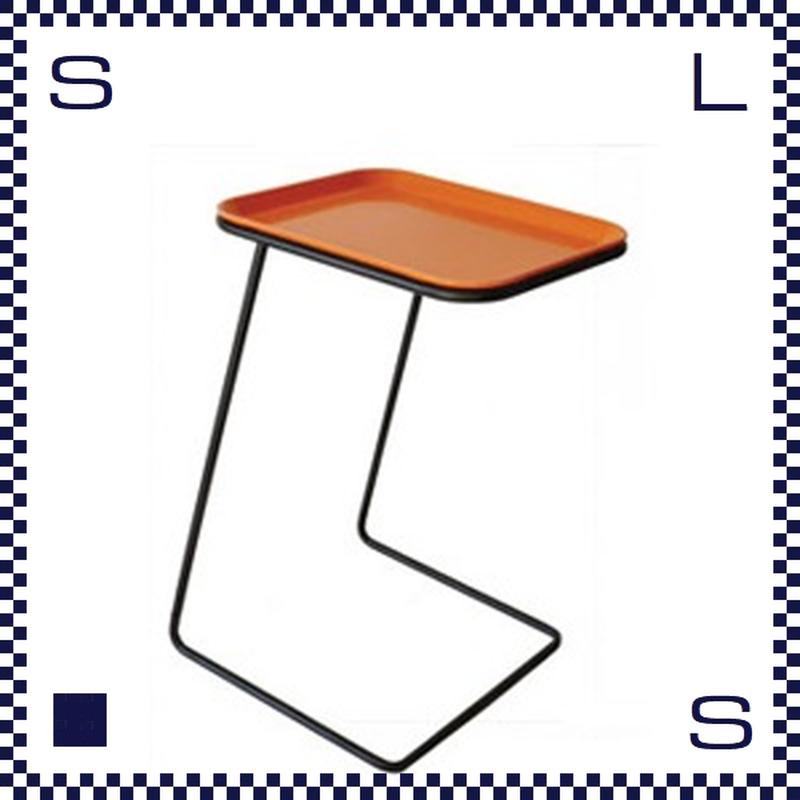 CAMBRO キャンブロ サイドテーブル スクエア フレーム:ブラック/シルバー オレンジ:天板 W360/H510/H280mm アメリカ製