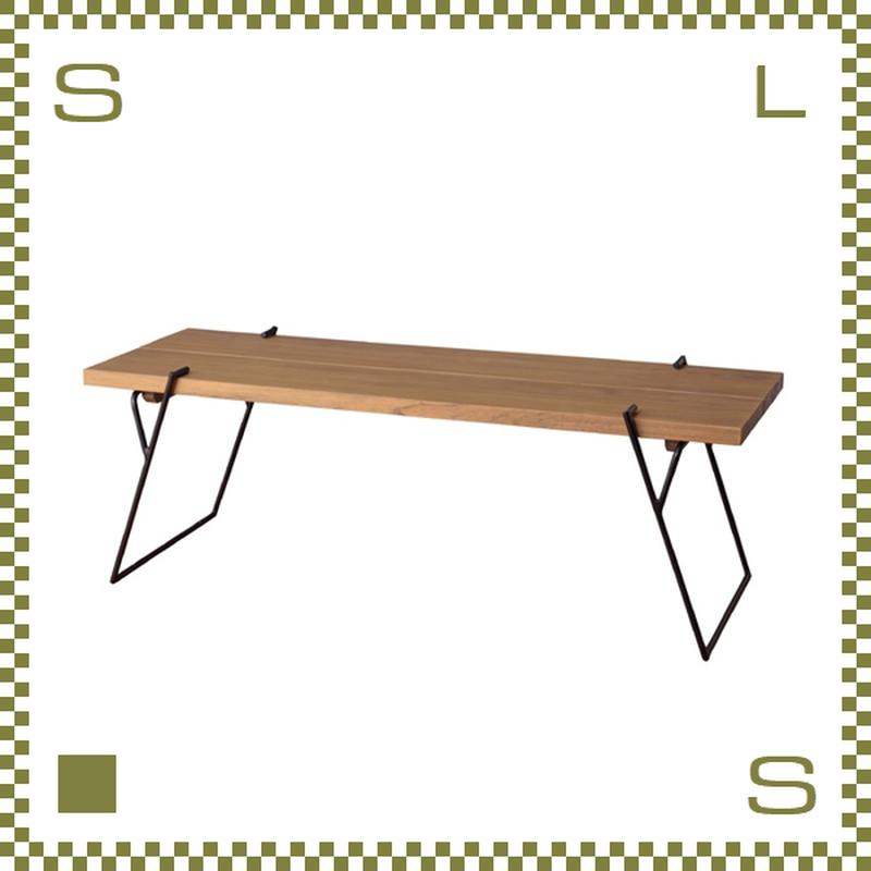 コーヒーテーブル Lサイズ W120/D43/H41.5cm ローテーブル 無垢材使用風 ブルックリンスタイル azu-nw172