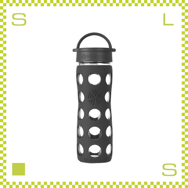 LIFEFACTORY ライフファクトリー グラスボトル クラシックキャップ 475 オニキスブラック 475ml 携帯ボトル ガラスボトル