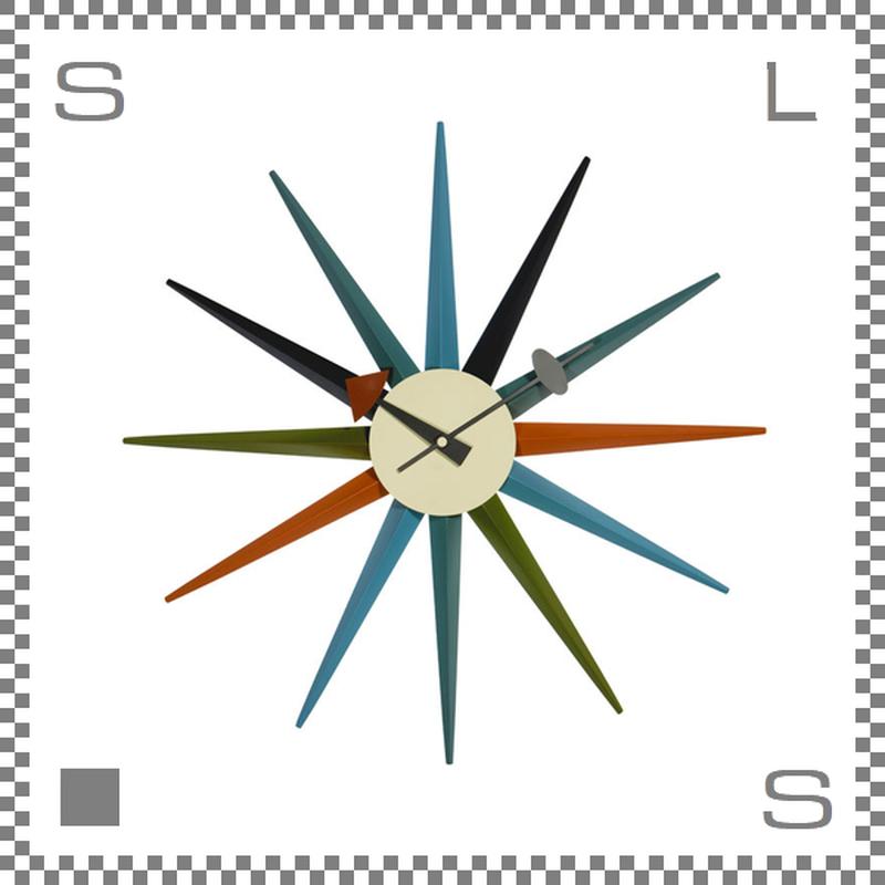サンバーストクロック ジョージネルソン 壁掛け時計 クロック ウォールクロック sunburst clock george nelson