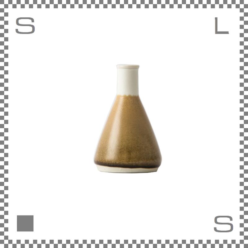 aiyu アイユー BIKASUCO ビカスコ Mサイズ ブラウン W6/D6/H9cm 100cc フラワーベース 花瓶 波佐見焼 日本製