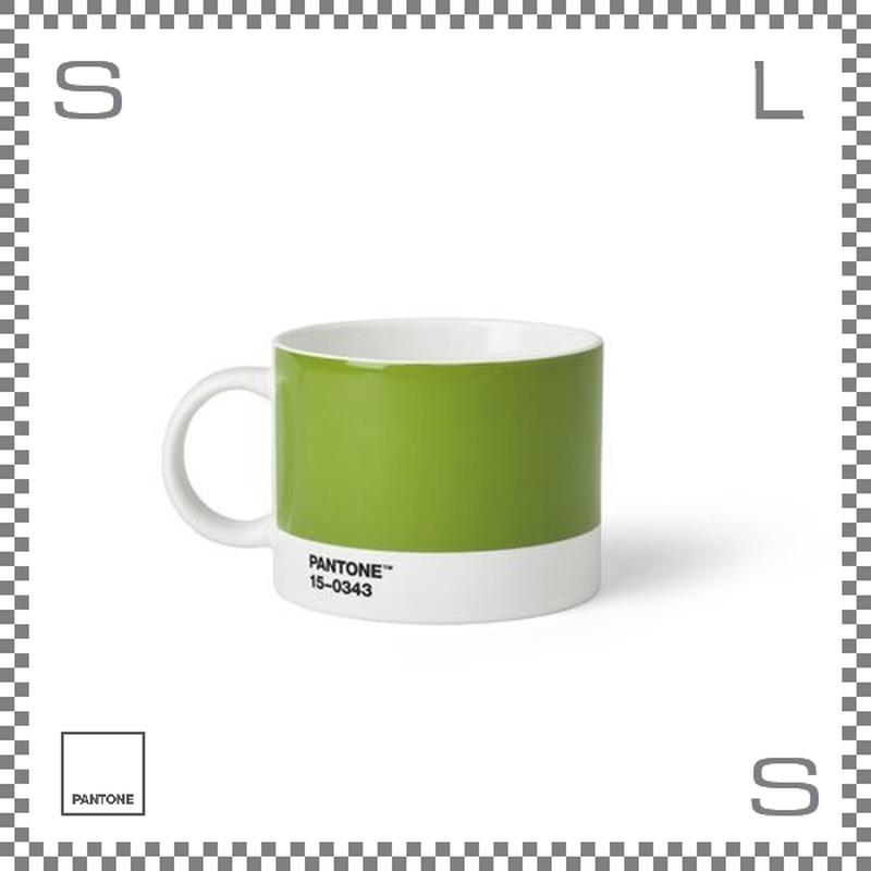PANTONE パントン ティーカップ グリーン 475ml Φ104/W140/H80mm マグカップ スープマグ