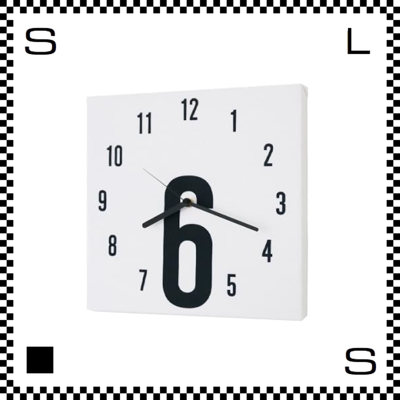 6 ファブリック モダン W30/D2/H30cm クロス張り ウォールクロック 壁掛け時計 スイープクオーツ使用 日本製