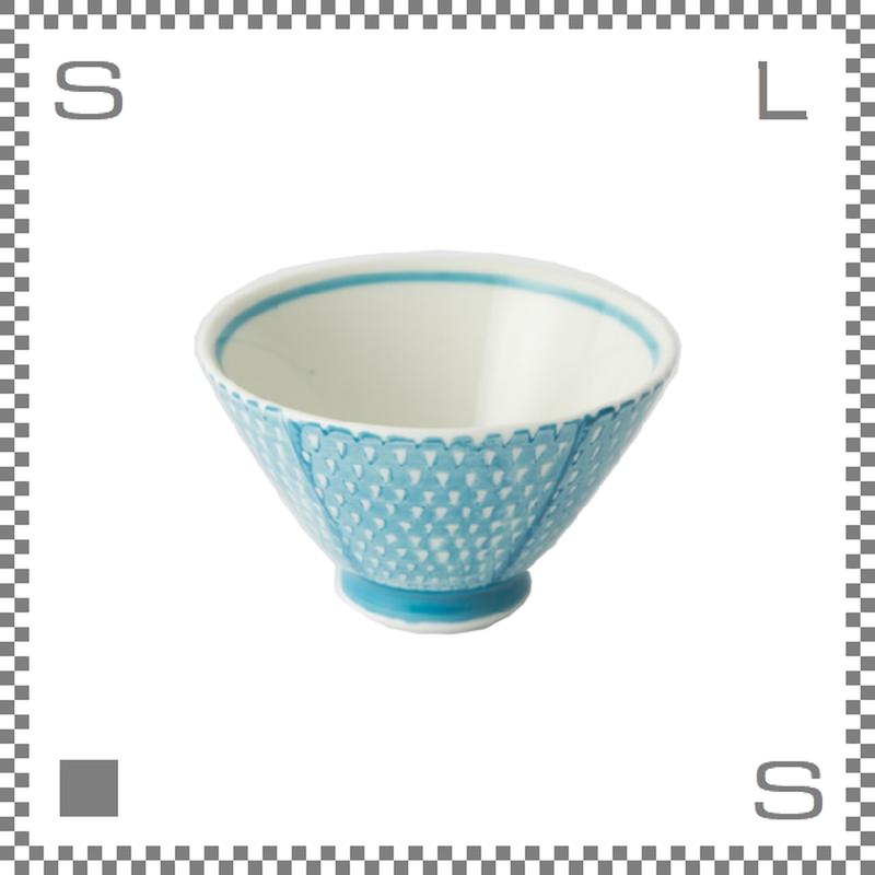 aiyu アイユー ORIME オリメ 鹿の子 カノコ 茶碗 アクアブルー Φ11/H6.5cm ライスボウル 波佐見焼 日本製