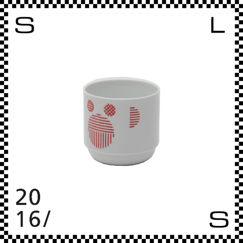 2016/ TAF タフ カップ モンキー レッド 220ml Φ75/H70mm 湯呑み フリーカップ スタッキング可 有田焼 日本製 gs-011