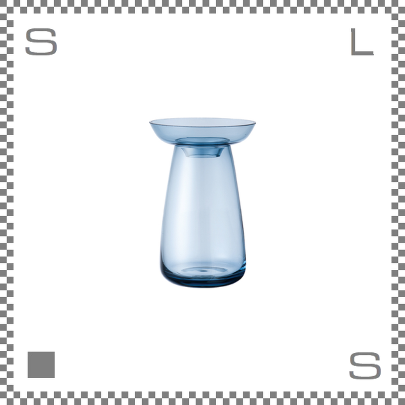 KINTO キントー アクアカルチャーベース Sサイズ ブルー 花瓶 ガラス製