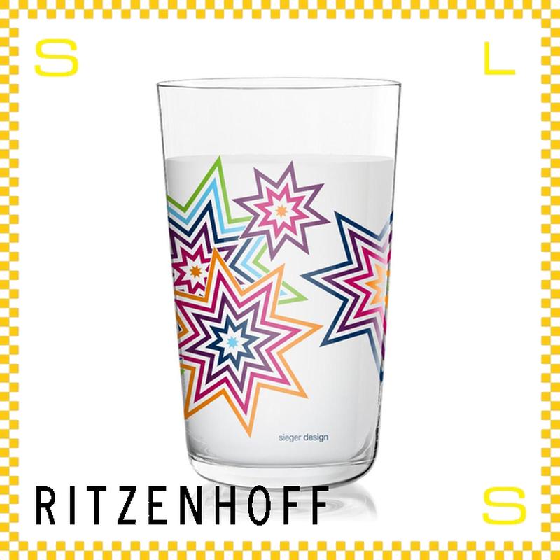 RITZENHOFF リッツェンホフ ミルクグラス 250ml ファイアーワーク カラー シーガ―・デザイン Φ77/H128mm タンブラー オクタグラム ギフト  ritz-3509999