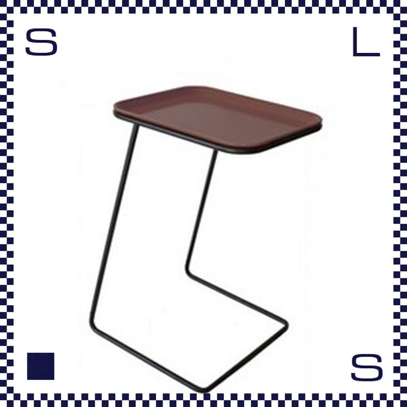 CAMBRO キャンブロ サイドテーブル スクエア フレーム:ブラック/シルバー ブラウン:天板 W360/H510/H280mm アメリカ製
