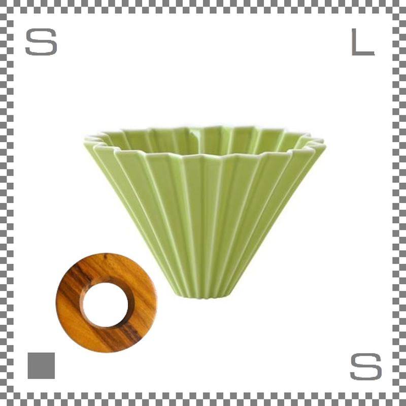 ORIGAMI オリガミ ドリッパーセット ドリッパー Mサイズ グリーン 2~4杯用 &専用ドリッパーホルダー