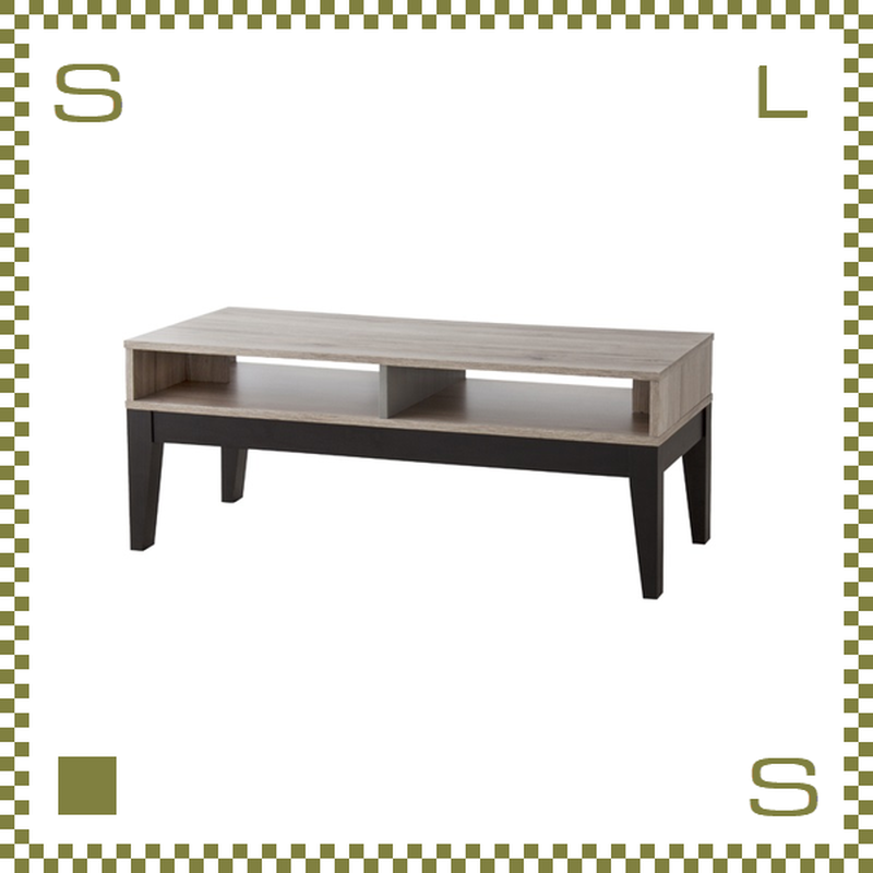 コーヒーテーブル W100/D45/H41cm 棚あり ローテーブル TVボード azu-ol331
