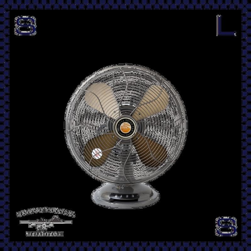 HERMOSA ハモサ レトロファンテーブル 2019 シルバー W335/D250/H425mm 扇風機 コンパクト 卓上ファン RETRO FAN TABBLE rf-0119-sv