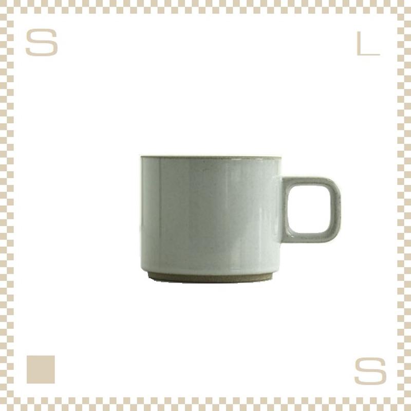 ハサミポーセリン マグカップ Sサイズ クリア グロス Φ85/H72mm 300ml スタッキング可 HPM019 Hasami Porcelain
