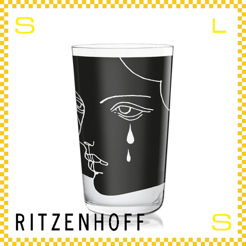 RITZENHOFF リッツェンホフ ミルクグラス 250ml ティアーズ ティナ・ベーニング Φ77/H128mm タンブラー フェイス ギフト  ritz-3500001